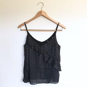 Black Crop Top Camisole Metallic Star Size Small